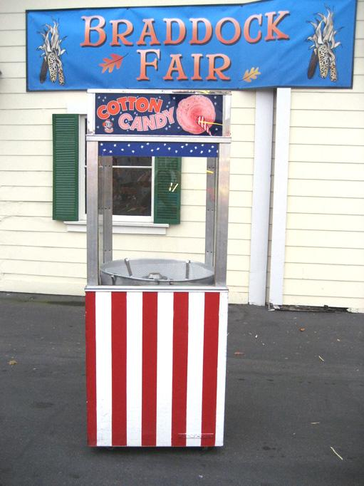 Carnival cotton candy cart