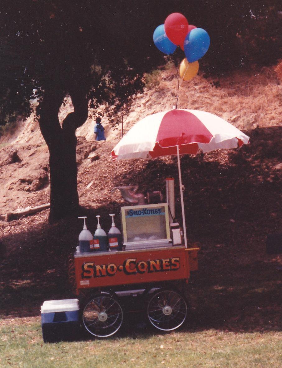 Carnival sno kones cart